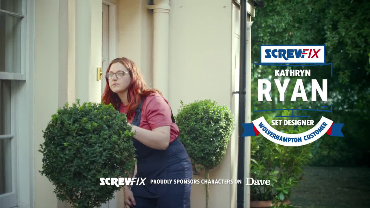 Screwfix Kathryn Ryan advert