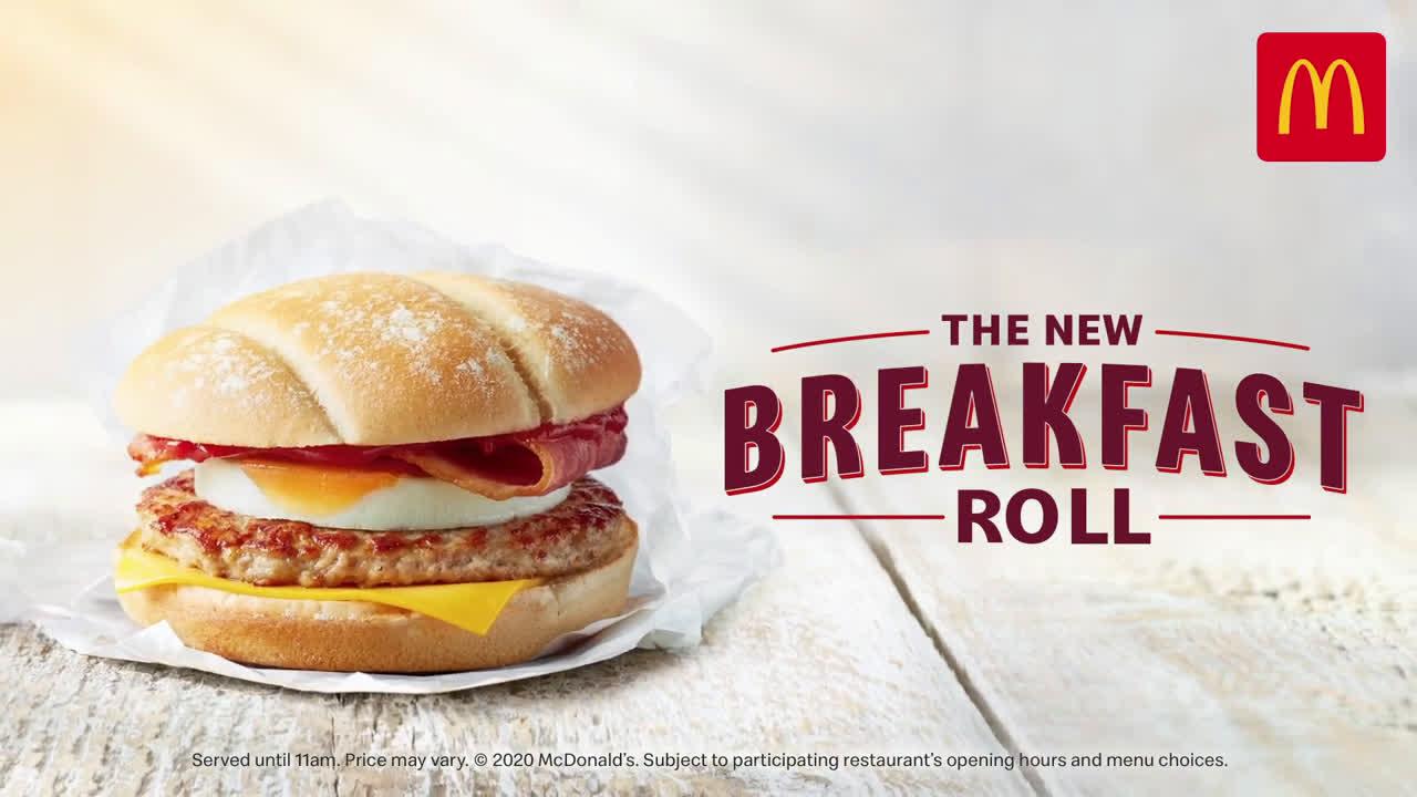 McDonalds The New Breakfast Roll | Breakfast advert