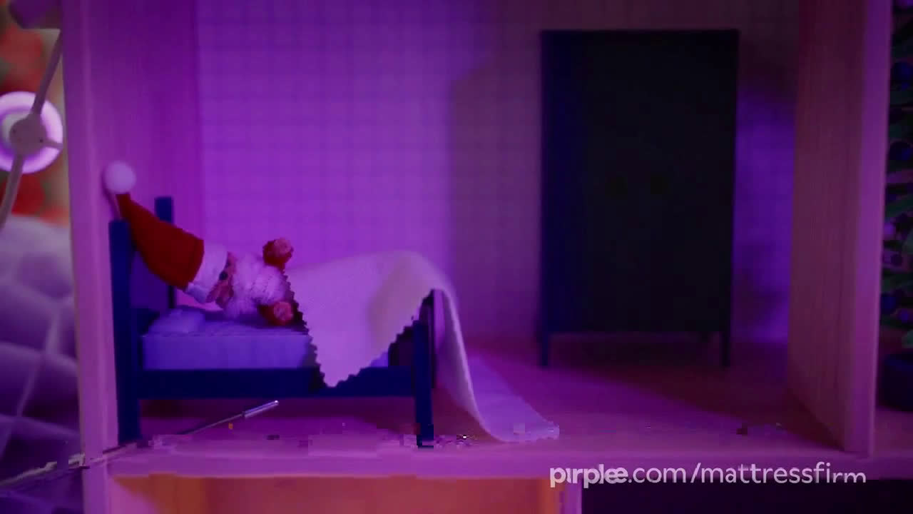 Purple Mattress Holidays Santa Claus Ad Commercial On Tv