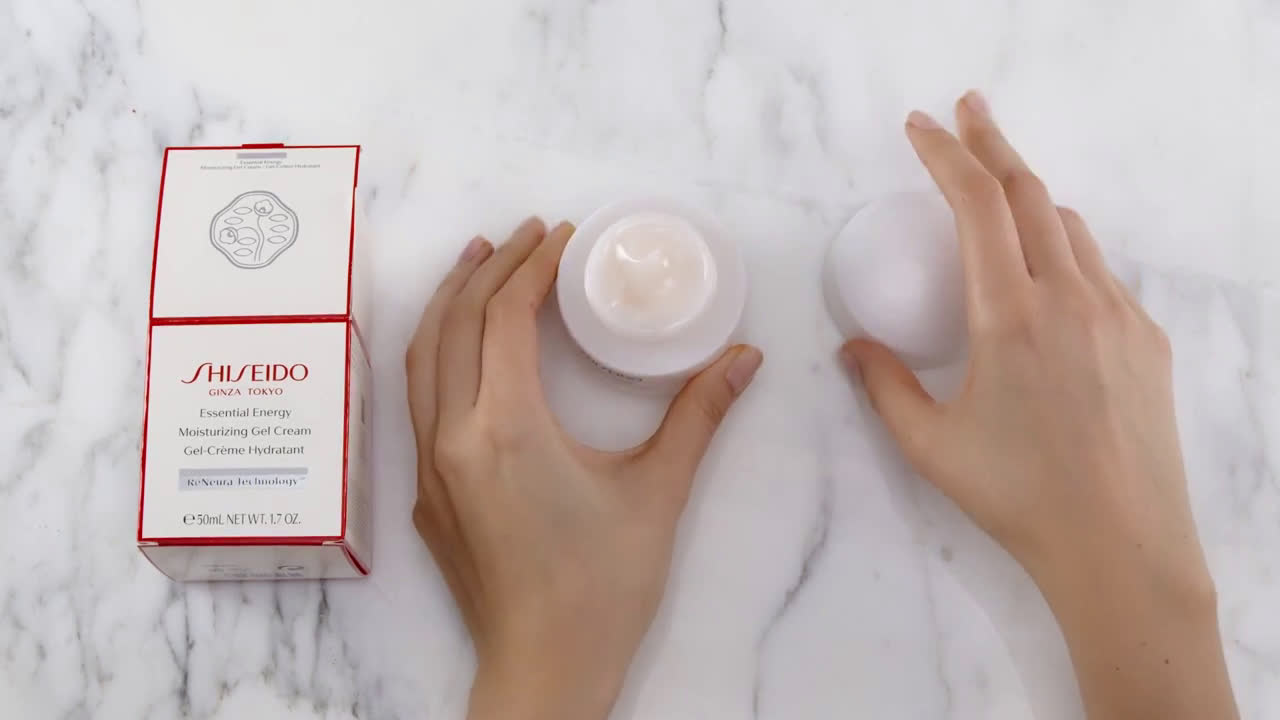 f64395ab9fcc Shiseido Essential Energy Moisturizing Gel Cream Unboxing Commercial