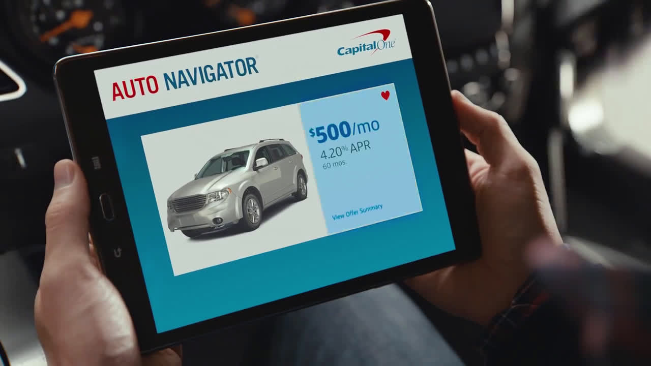 Capital One Auto Navigator - Find And Finance Your Next Car All In One Place Ad Commercial on TV 9 - Video