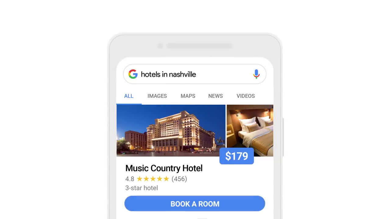▷ Google Search: Hotels in Nashville Ad Commercial on TV