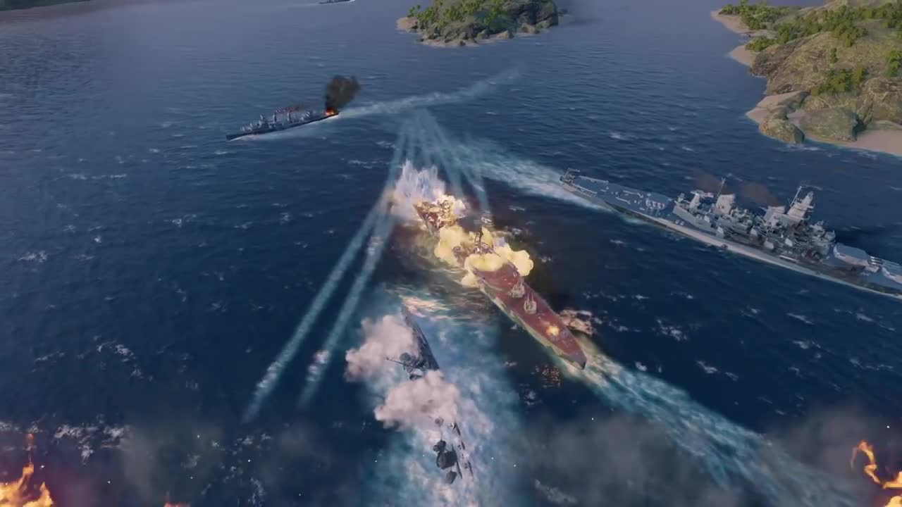▷ World of Warships: Legends - First Gameplay | PS4 Trailer