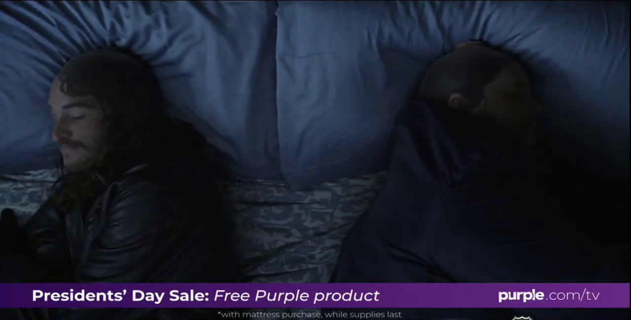 Purple Mattress The Thieves And Police Sleeping In Bed Ad Commercial On Tv