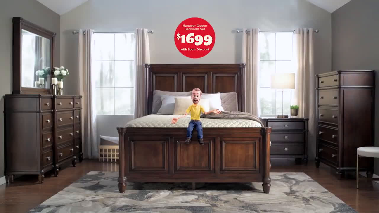 Bob S Discount Furniture 1 699 Queen Solid Mahogany Bedroom Set Ad Commercial On Tv